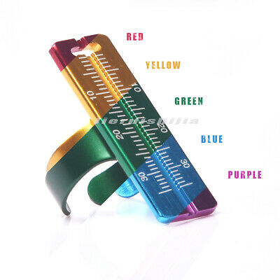 Dental Endo Ruler Aluminium Endodontic File Ruler Dental Ring Finger Ruler 1pc