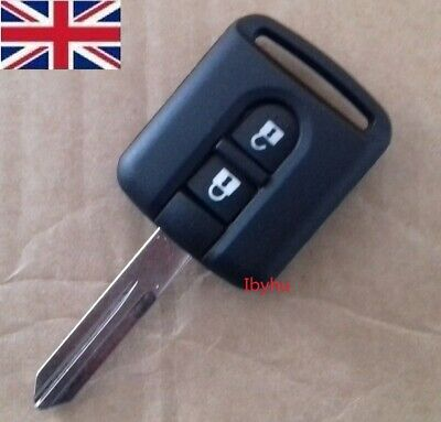 Remote Car Key Shell Case Fob Keyless 2 Buttons For Qashqai Nissan Micra Navara