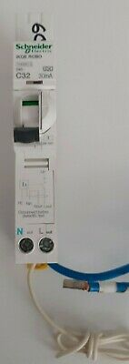 Schneider 32 Amp Rcbo C Type 30Ma 10 Ka Ikq Plug In Type See132C03 (S469)