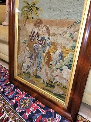 Antique Berlin Woolwork (Embroidery / needlepoint / tapestry) in Rosewood frame