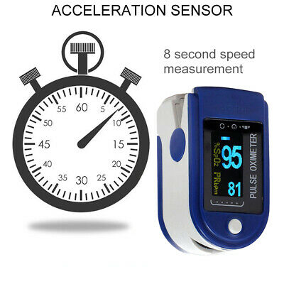 Healthcare Fingertip Pulse Oximeter Blood Oxygen Saturation SPO2 Finger Monitor