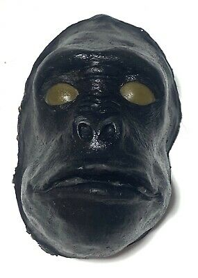 Vintage Plastic Ape Monkey Gorilla Painted Face Or Small Mask
