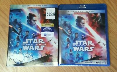 Star Wars: The Rise of Skywalker (Blu-ray, w/Slipcover, Digital) New Sealed