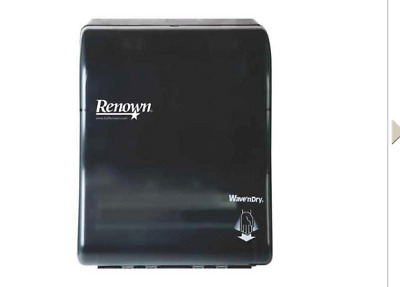 Renown 05164 Paper Towel Roll Dispenser I-Notch Electronic Black Translucent Nib