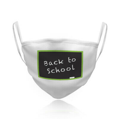 Cotton Washable Reusable Face Mask Blackboard Back to School Teacher Education