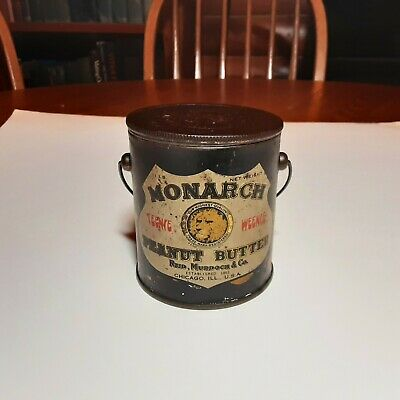 Vintage Monarch Peanut Butter Can