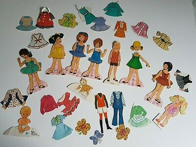 Girl Children Tinker Mattel Jackie and More Doll Paper Doll Set Vintage