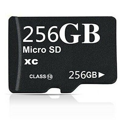 256GB Class 10 Micro SD XC Memory Card with Adapter