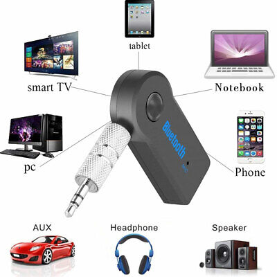 Wireless Bluetooth Receiver 3.5mm AUX Audio Stereo Music Home Car Adapter