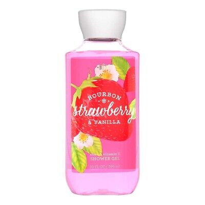 Bath and & Body Works Bourbon Strawberry Vanilla Shower Gel Body Wash 10 oz