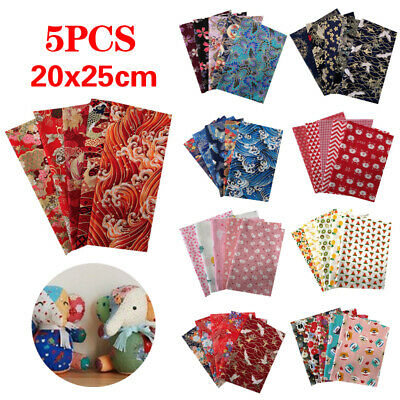 5PCS/Set Craft Sewing Fabric DIY Floral Cotton Cloth Quilting Fabric Multicolor