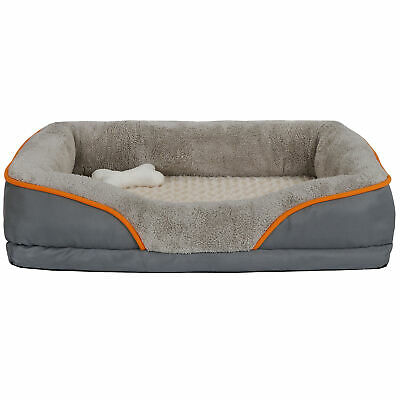 Orthopedic Dog Bed Sofa Memory Foam Lounge Removable Cover & Toy High-Quality