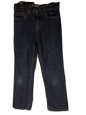 Cat And Jack Straight Relaxed Jeans size 10 slim  adjustable waist dark wash