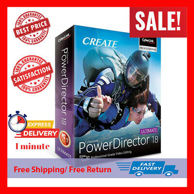 CyberLink PowerDirector Ultimate 18 ✅ | Lifetime License 🔑 | Fast Delivery 🔥