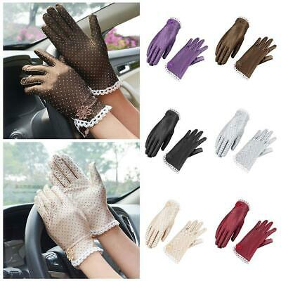 Women Elegant Lace Gloves Bridal Wedding Summer Driving Gloves UV Protection New