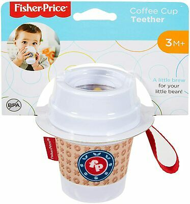 Fisher Price COFFEE CUP TEETHER - 3m+ - New