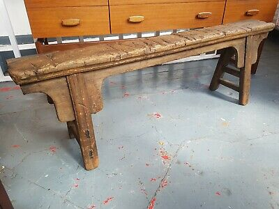 Rustic Hand Made Antique Workman's Hall Bench/Console. Vintage/Interiors