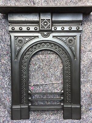 Antique Cast Iron Fire Surround / Fireplace Arched, Victorian, Uk Delivery