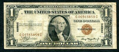 1935 A - $1 Hawaii Emergency Issue Silver Certificate C06565859C