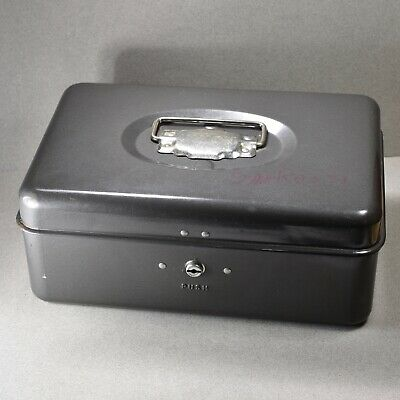 Vintage Union Metal Cash Box with 2 keys Made in USA -- 2723