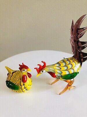 Lenox Glass Chicken Figurines