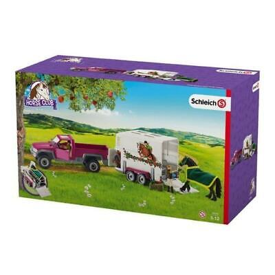 c Schleich Pick Up with Horse Box SC42346