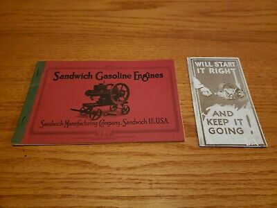 Sandwich Gasoline Engine Webster Magneto Literature