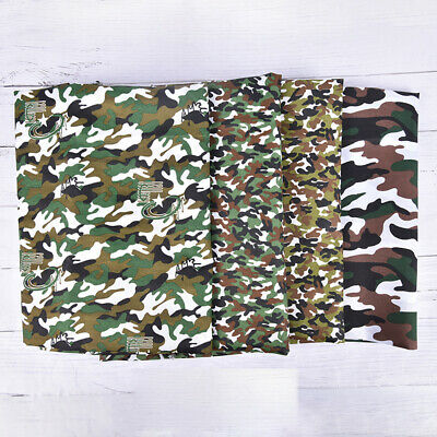 1 Meter Fashion Green Camo Camouflage Print Cotton Material Fabrics Poplin ON