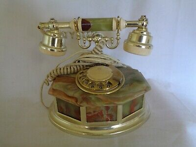 vintage telephone marble with gold patten by Astral Telecom