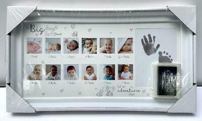 Hugs and Kisses Baby's First Year Photo Frame by First Steps
