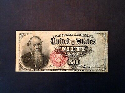 "Fr. 1376 50 Fifty Cents Fourth Issue Fractional Currency Note ""Stanton"""