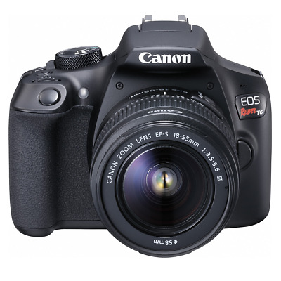 New In Box CANON EOS Rebel T6 Digital SLR Camera ( w/EF-S III 18-55mm Lens Kit )