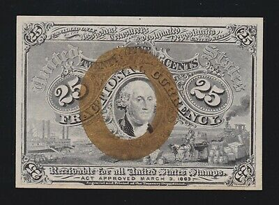 US 25c Fractional Currency Note 2nd Issue FR 1283 Ch CU