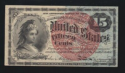 US 15c Fractional Currency Note 4th Issue FR 1271 Ch CU