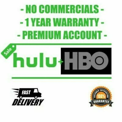 Hulu Premium + HBO + No Ads + | 1 Year | Same Day Delivery | Warranty