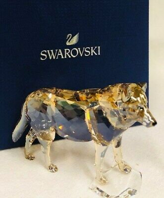 Swarovski Crystal 2019 SCS Gray Wolf 5428544 New with Box