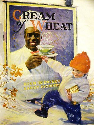 Brewer CREAM OF WHEAT Ad FATHER'S FOOTSTEPS 1924 Matted