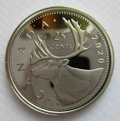 Canada 2020 25 Cents Proof Quarter Heavy Cameo Coin