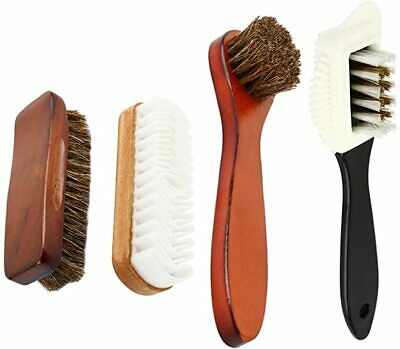 Shoe Polishing Brush Horsehair Shoe Shine Brush Kit For Shoes,Leather,Boot,Cloth
