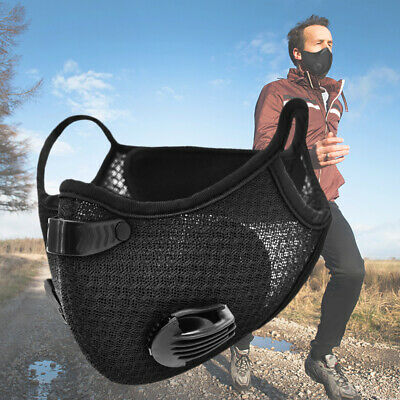 Dustproof Cycling Face Shield with Activated Carbon Filter Mouth Cover Scarf