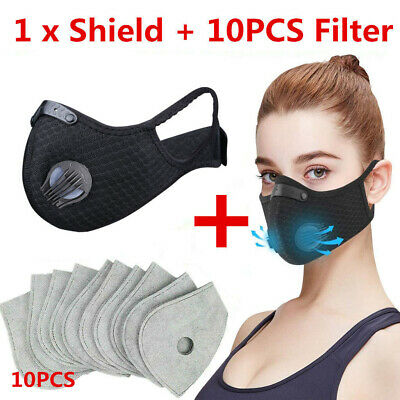 Reusable Activated Carbon Face Shield with Filter Anti-pollution muffler scarf