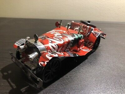 Collectable Coca Cola Custom Made  Roadster Car  Made With Coke Cans
