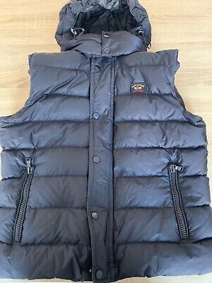 ENGLAND RUGBY RFU OFFICIAL PADDED MENS BROWN HOODED GILET  SIZE S M  RRP £70
