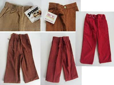 Kids vintage corduroys 60's trousers age 1-4 brown reds USA made NWT's