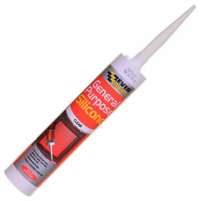 Everbuild General Purpose Silicone sealant waterproof 310ml C3 Tube Clear 2 PACK