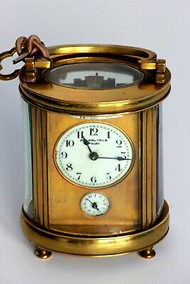 Very fine French Carriage oval Clock