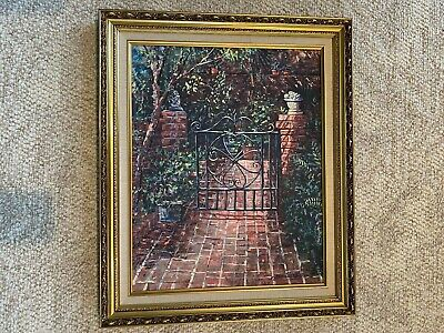 "Gordon Wheeler Framed 16""x20""  Charleston Canvas Reproduction."