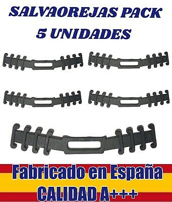 5 Piezas sujeta mascarillas SUPER FLEXIBLE NEGRO, salvaorejas A+++