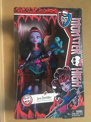 Monster High Doll Jane Boolittle With Pet Needles New