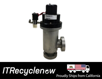 MKS HPS 2 port Vaccum Bellows Valve NW50 24vdc Right Angle VacuComp LoPro MKS-15